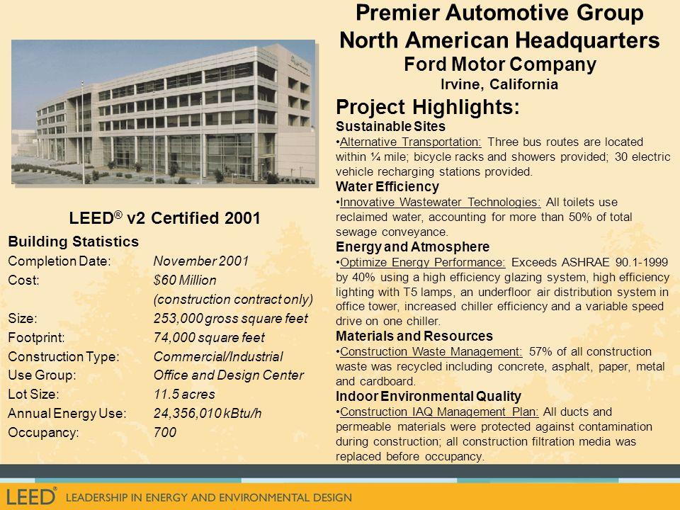 Premier Automotive Group North American Headquarters