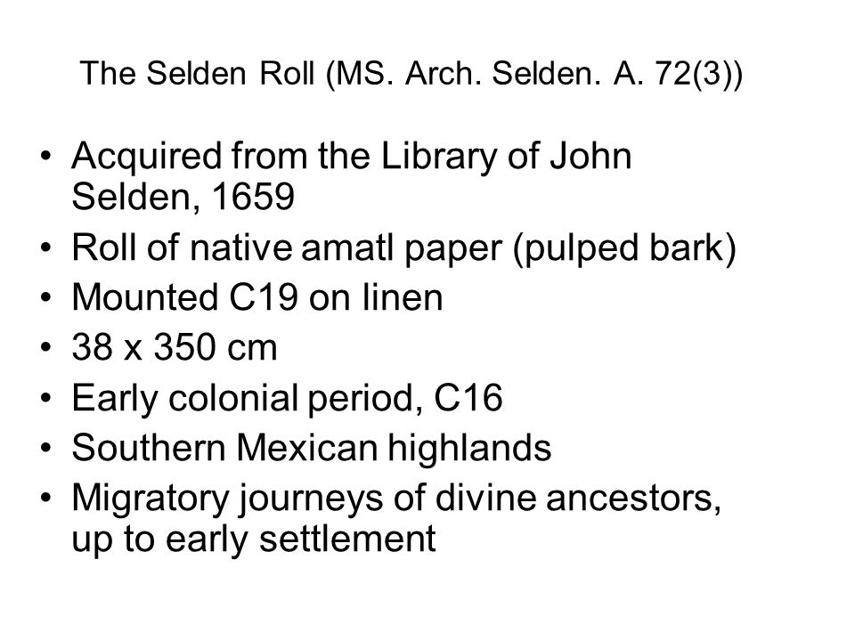 The Selden Roll (MS. Arch. Selden. A. 72(3))