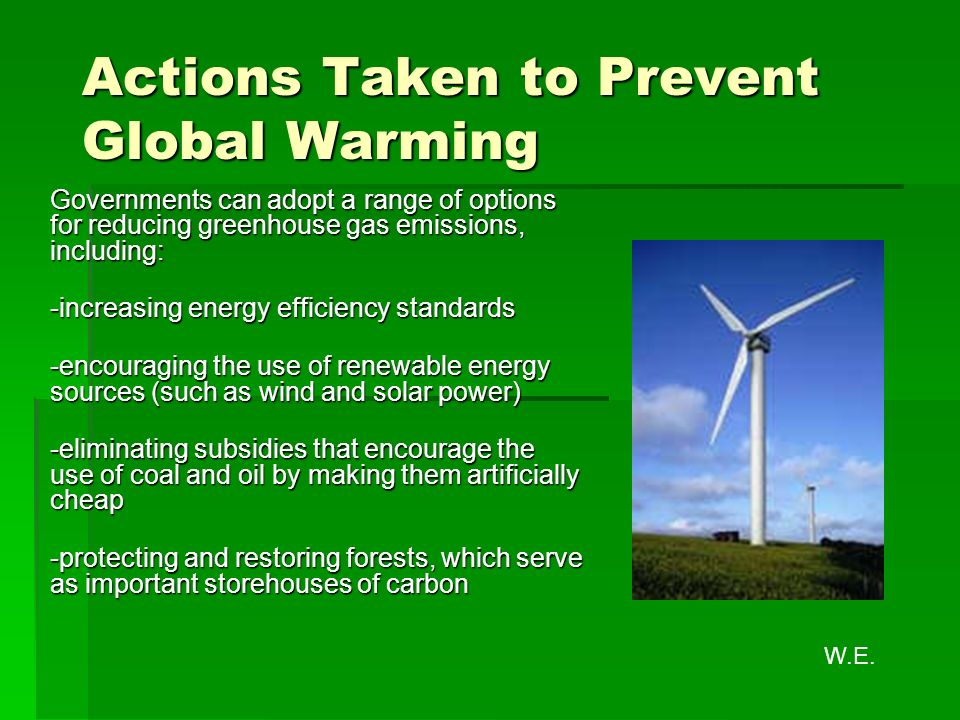 Ways to stop global warming essay