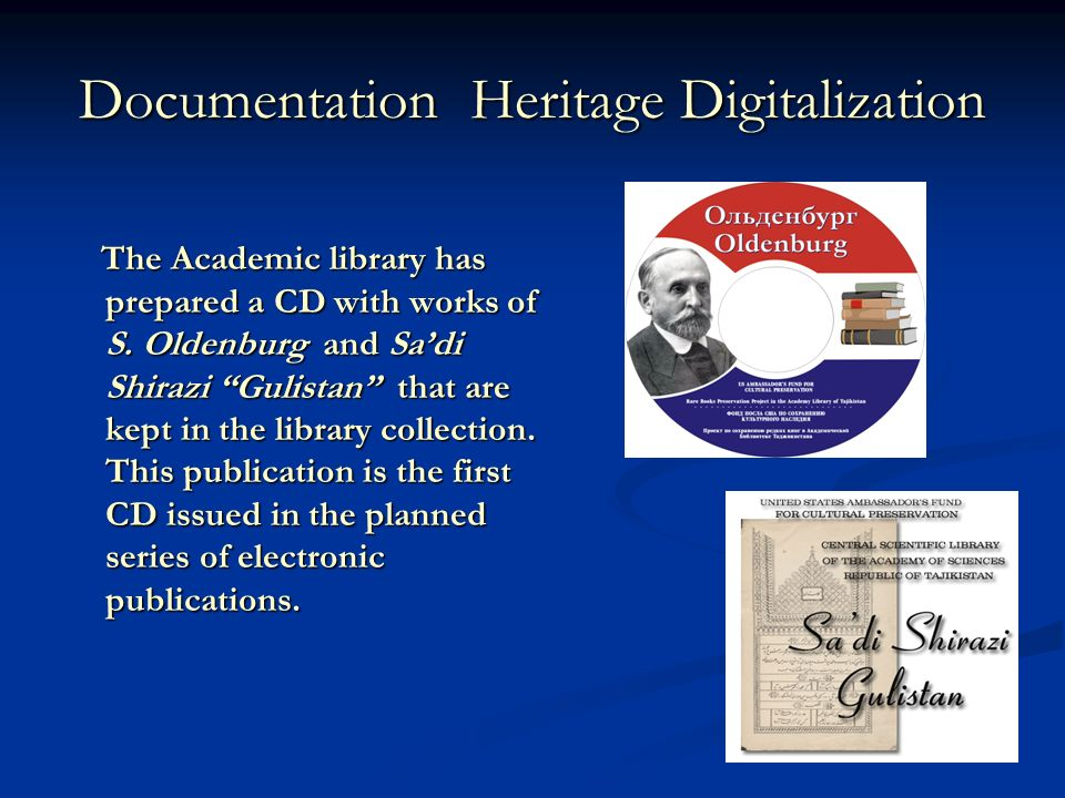 Documentation Heritage Digitalization