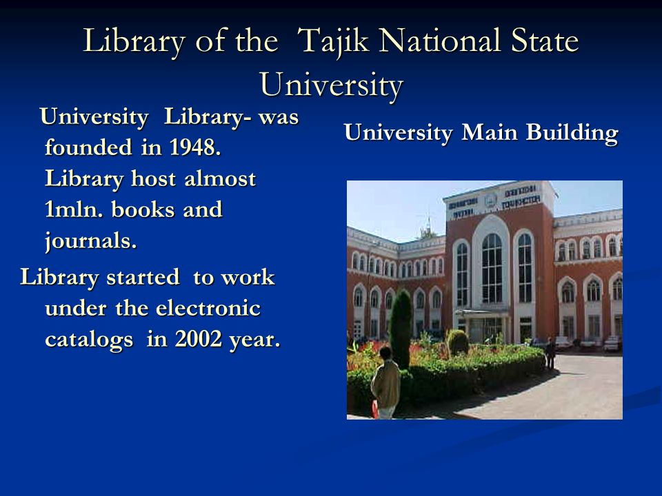 Library of the Tajik National State University