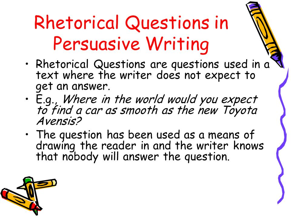 Rhetorical Questions In Essays Roho4senses