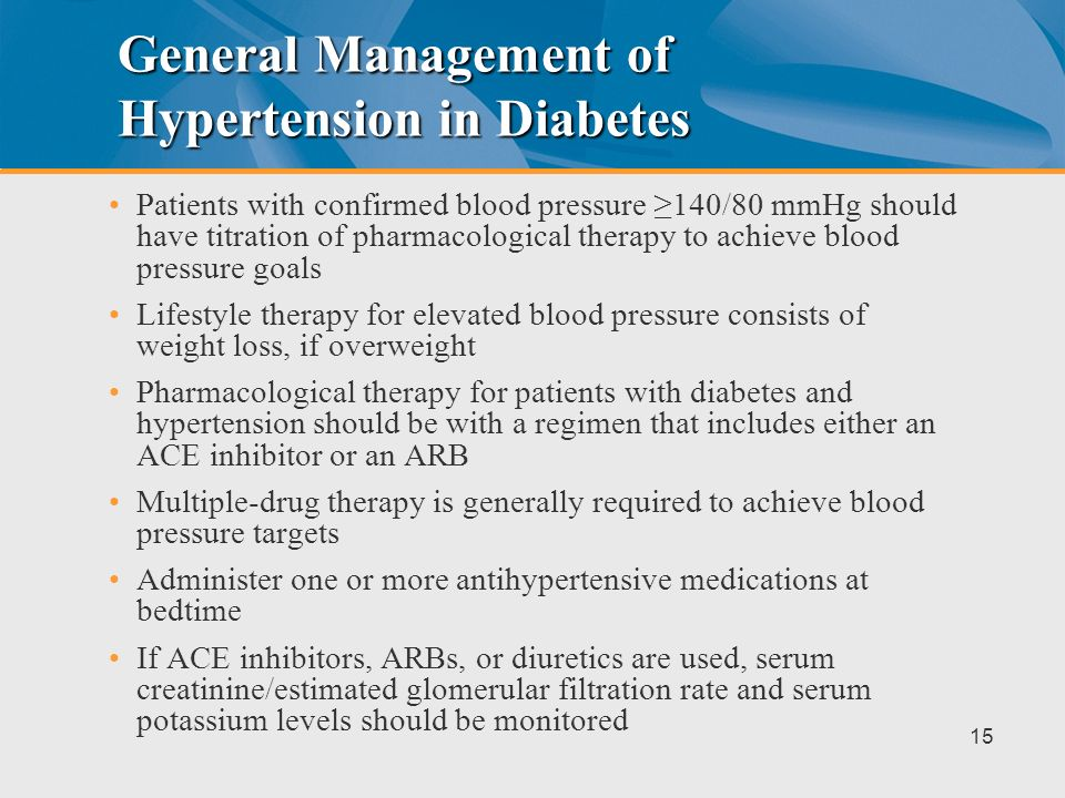 General Management of Hypertension in Diabetes