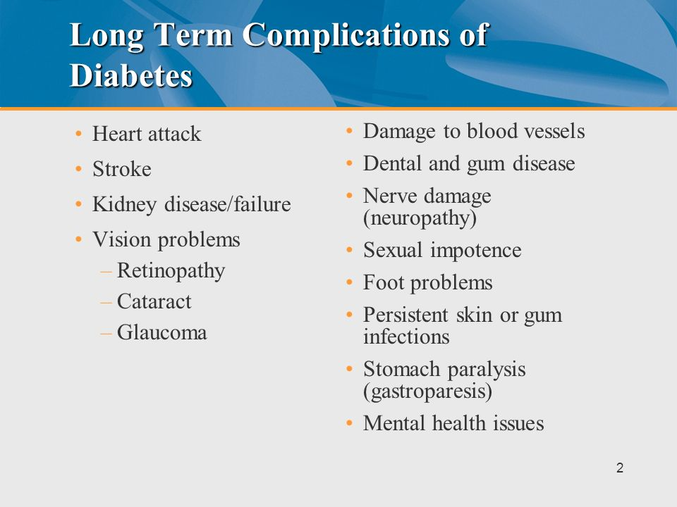 Long Term Complications of Diabetes