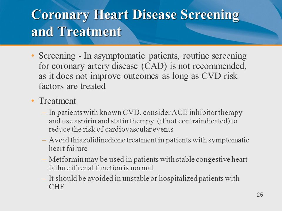 Coronary Heart Disease Screening and Treatment