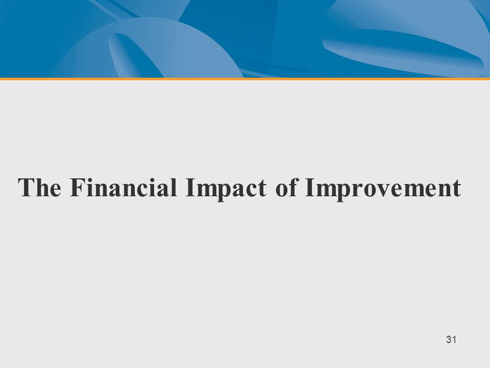 The Financial Impact of Improvement