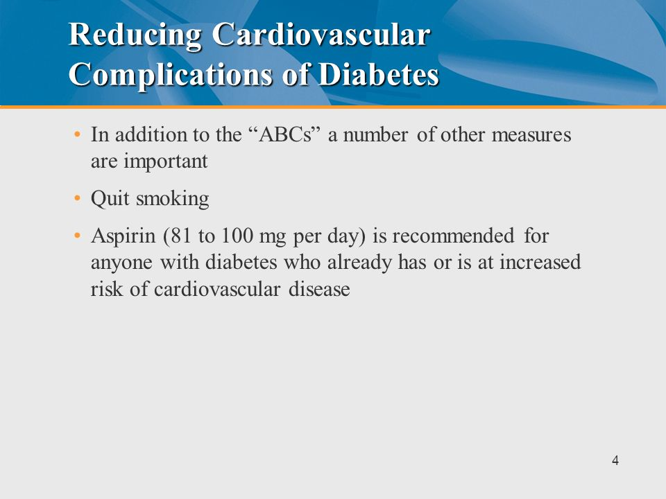 Reducing Cardiovascular Complications of Diabetes