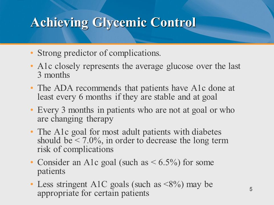Achieving Glycemic Control
