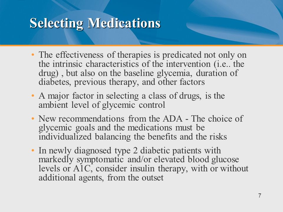 Selecting Medications