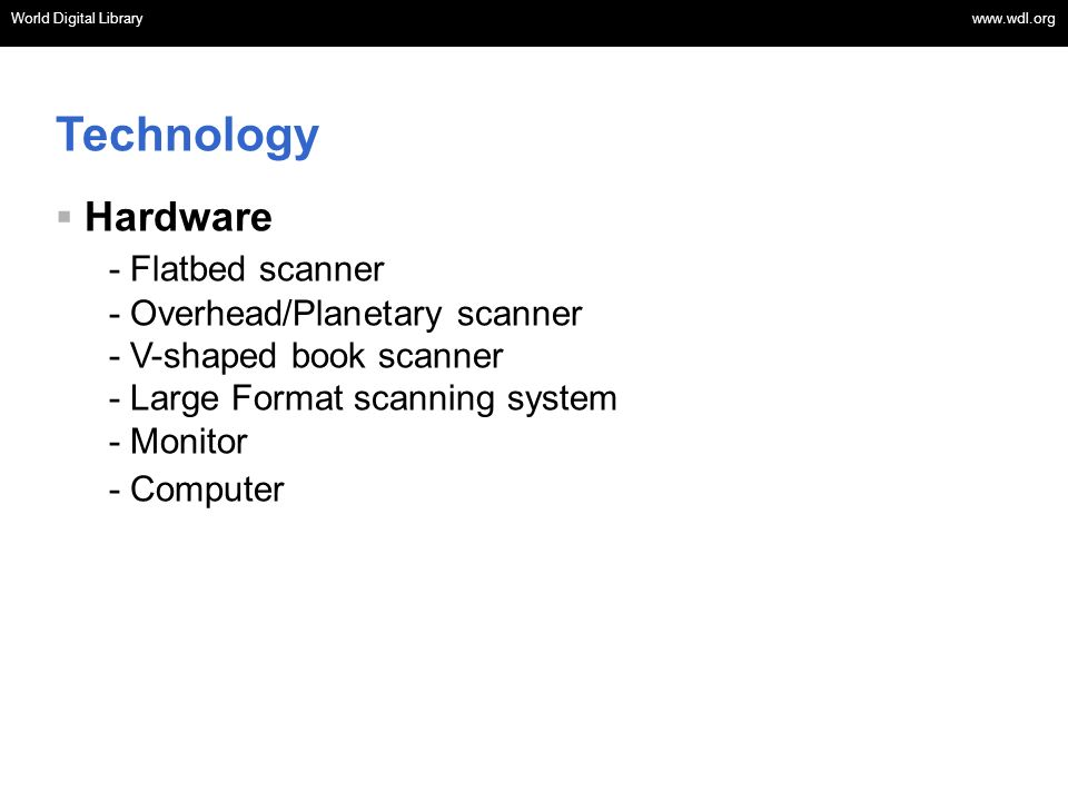 Technology Hardware - Flatbed scanner - Overhead/Planetary scanner