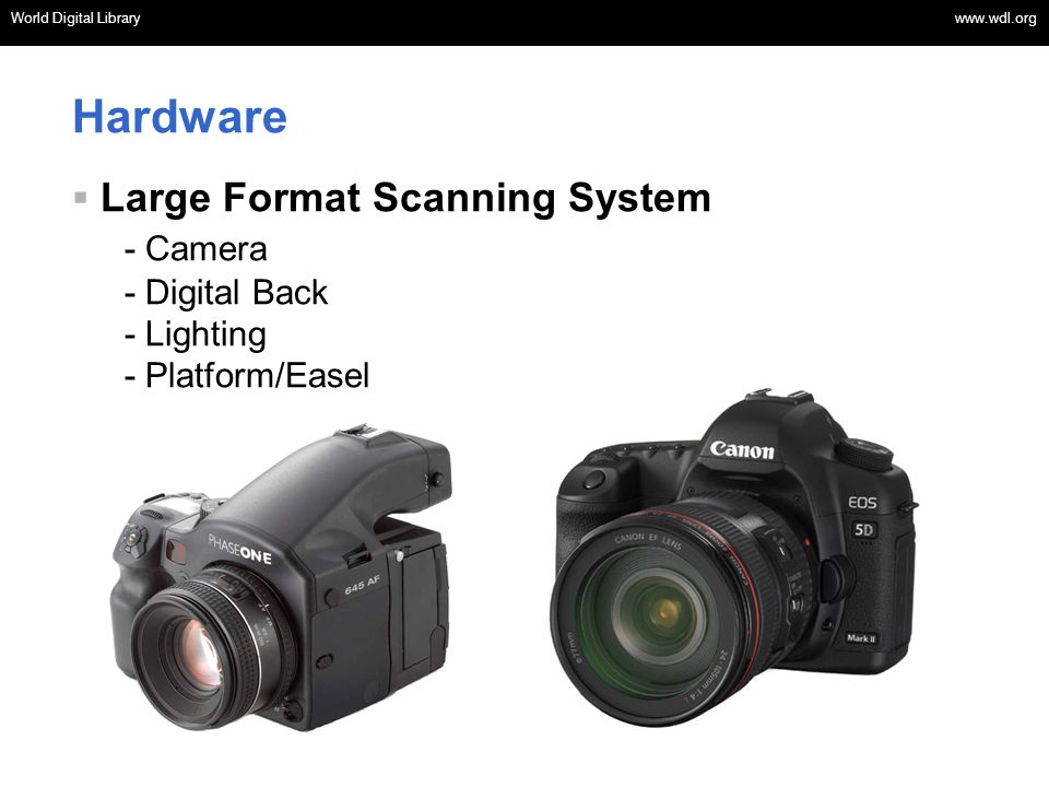 Hardware Large Format Scanning System - Camera - Digital Back