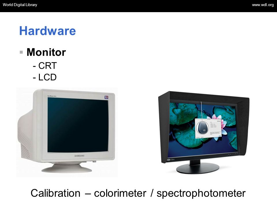 Hardware Monitor - CRT Calibration – colorimeter / spectrophotometer