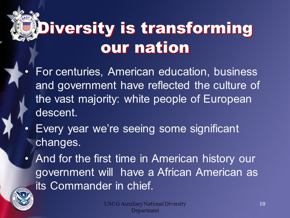 Diversity is transforming our nation