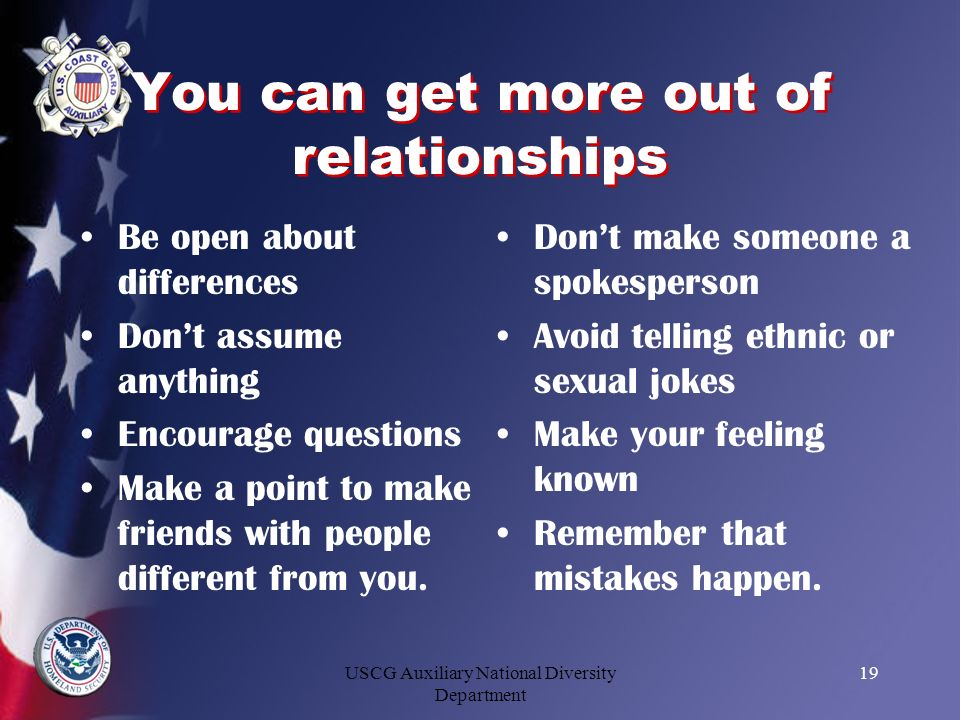 You can get more out of relationships