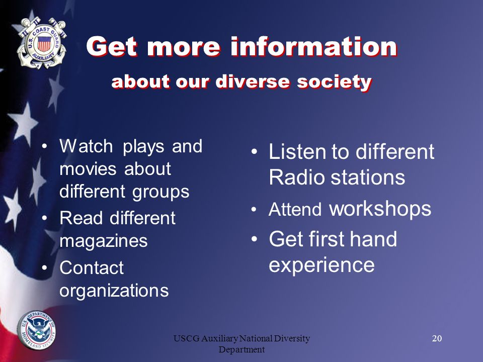 Get more information about our diverse society