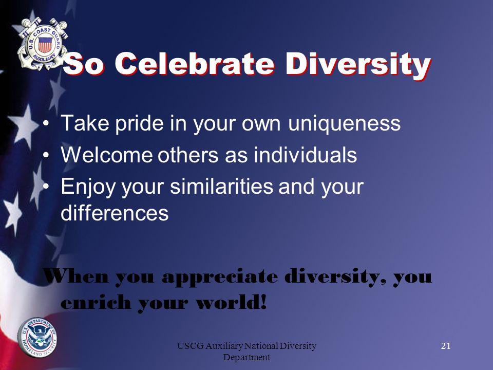 So Celebrate Diversity