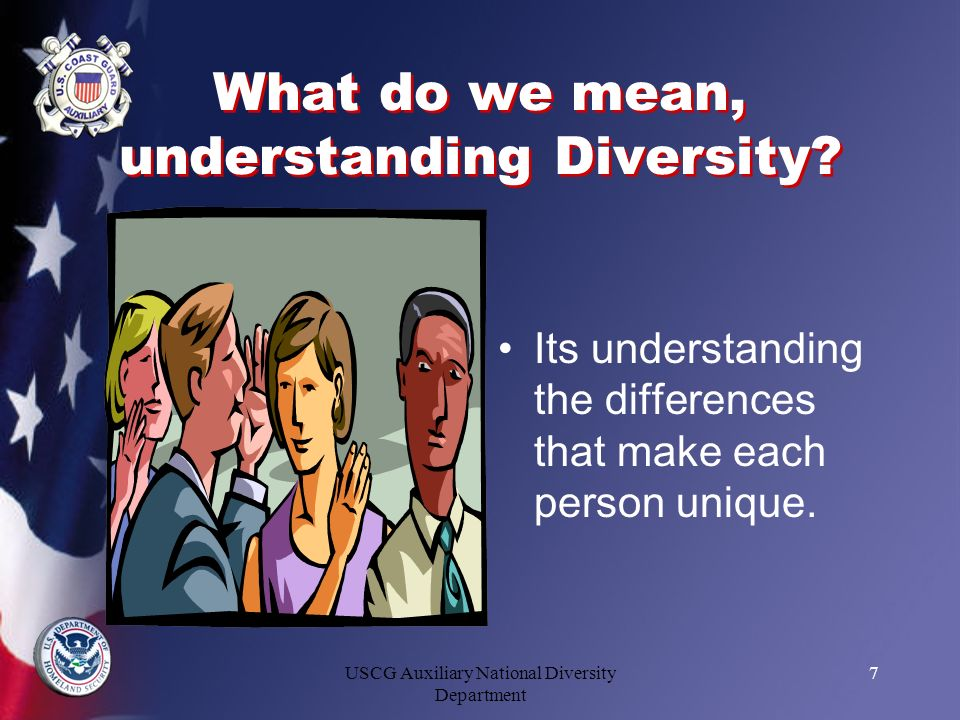 What do we mean, understanding Diversity
