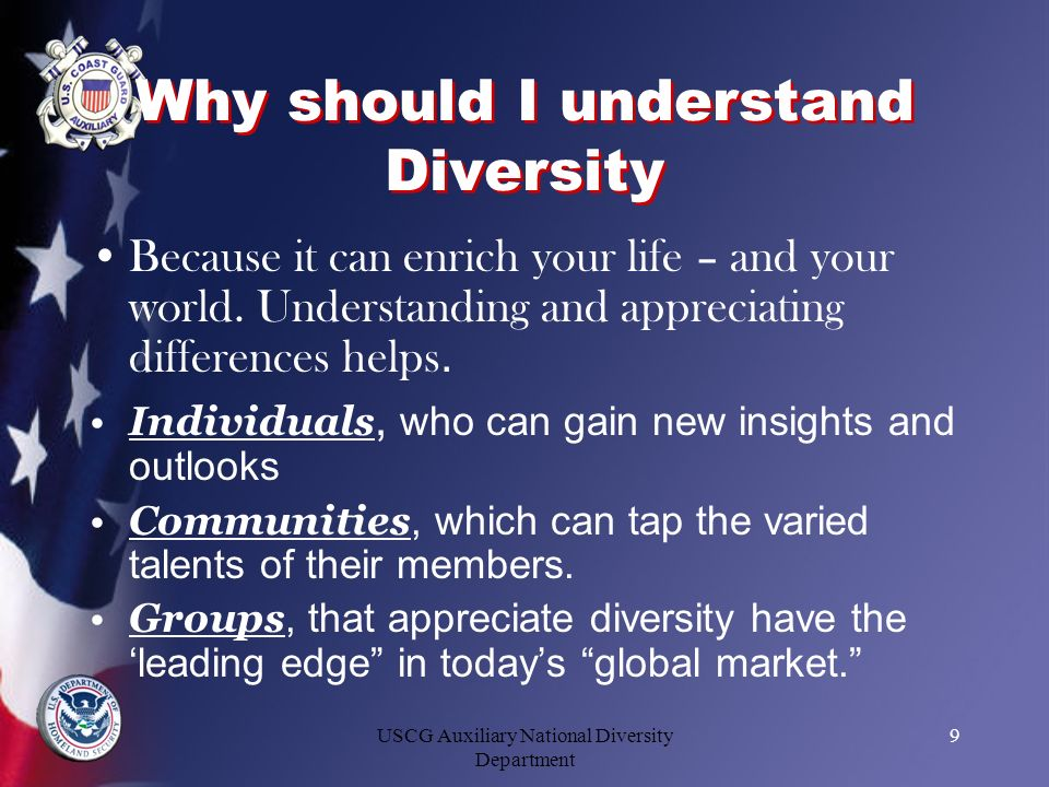 Why should I understand Diversity