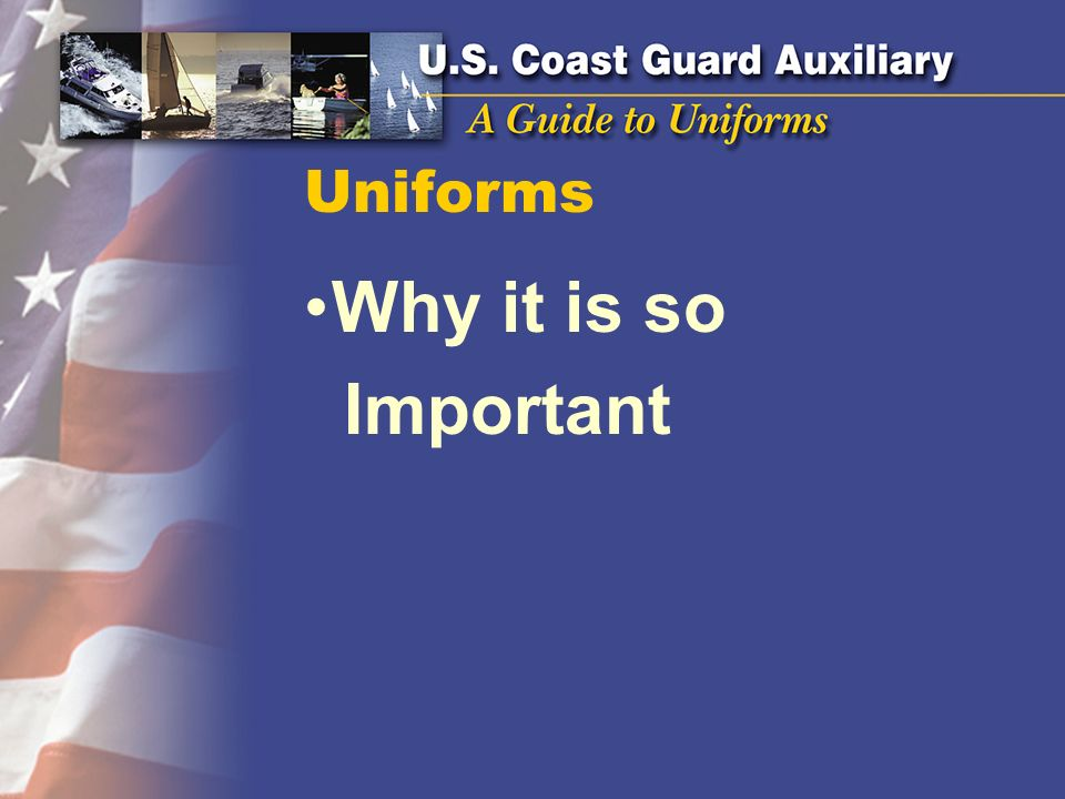 Uniforms Why it is so Important