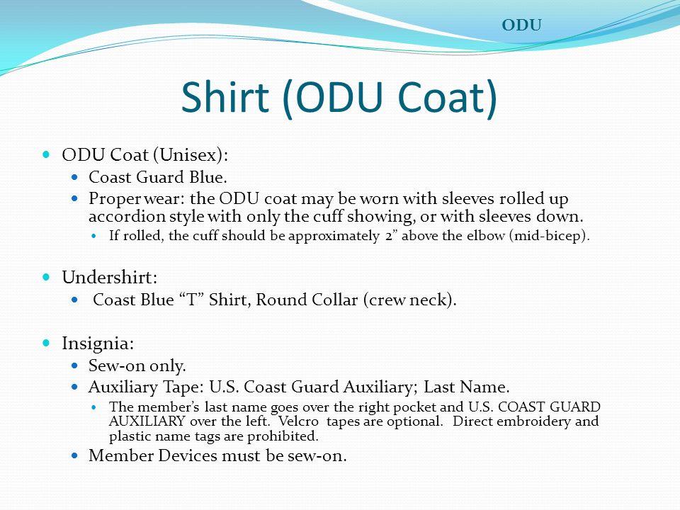 Shirt (ODU Coat) ODU Coat (Unisex): Undershirt: Insignia: