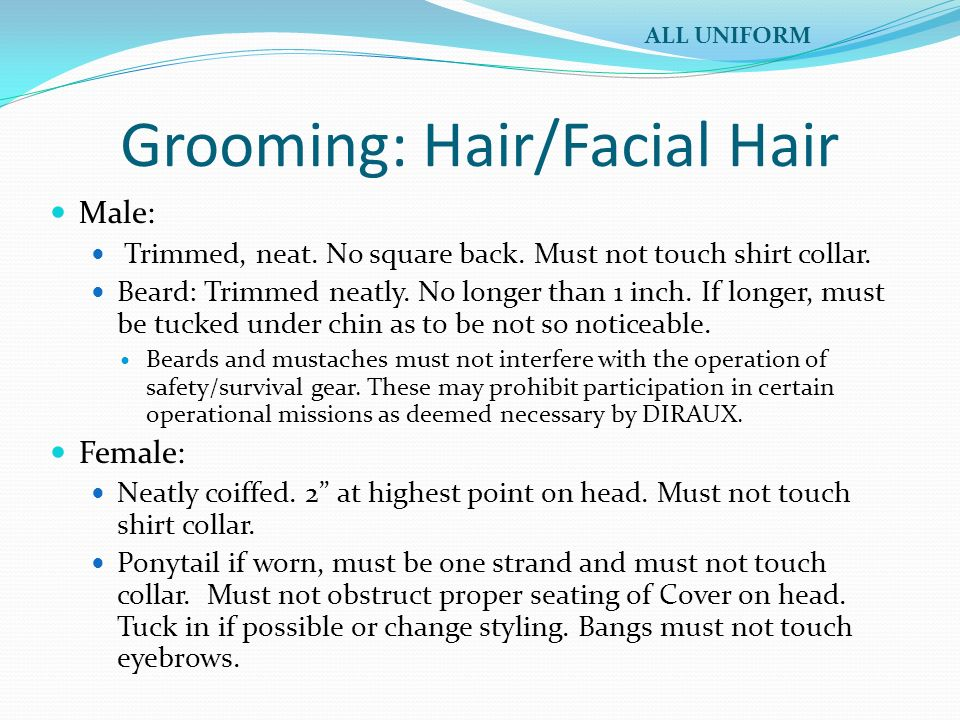 Grooming: Hair/Facial Hair