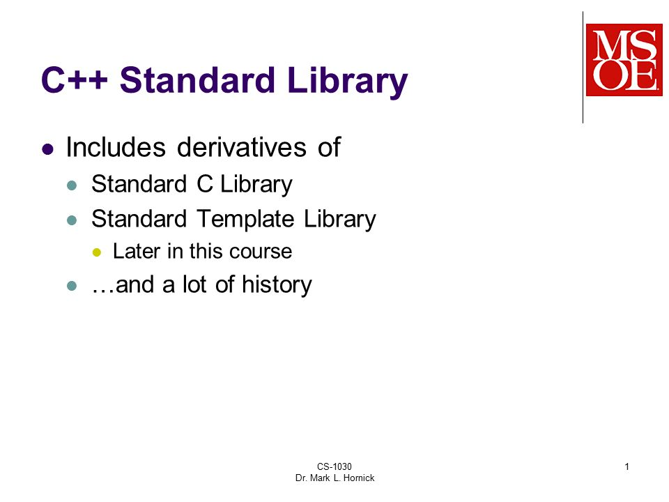 C Standard Library Includes Derivatives Of Standard C Library