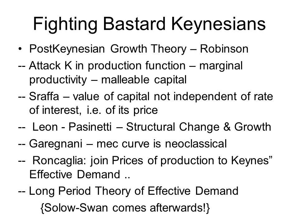 Fighting Bastard Keynesians