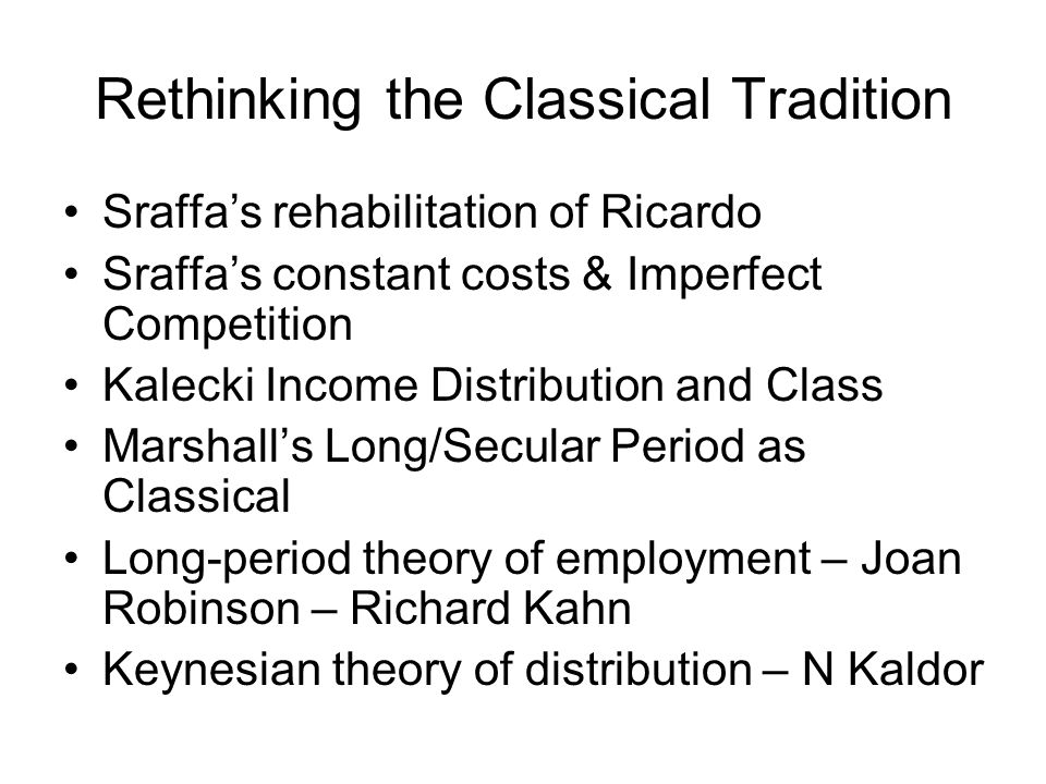 Rethinking the Classical Tradition