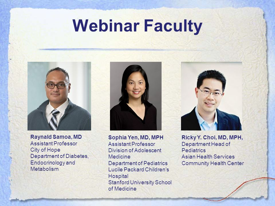 Webinar Faculty Raynald Samoa, MD Assistant Professor City of Hope