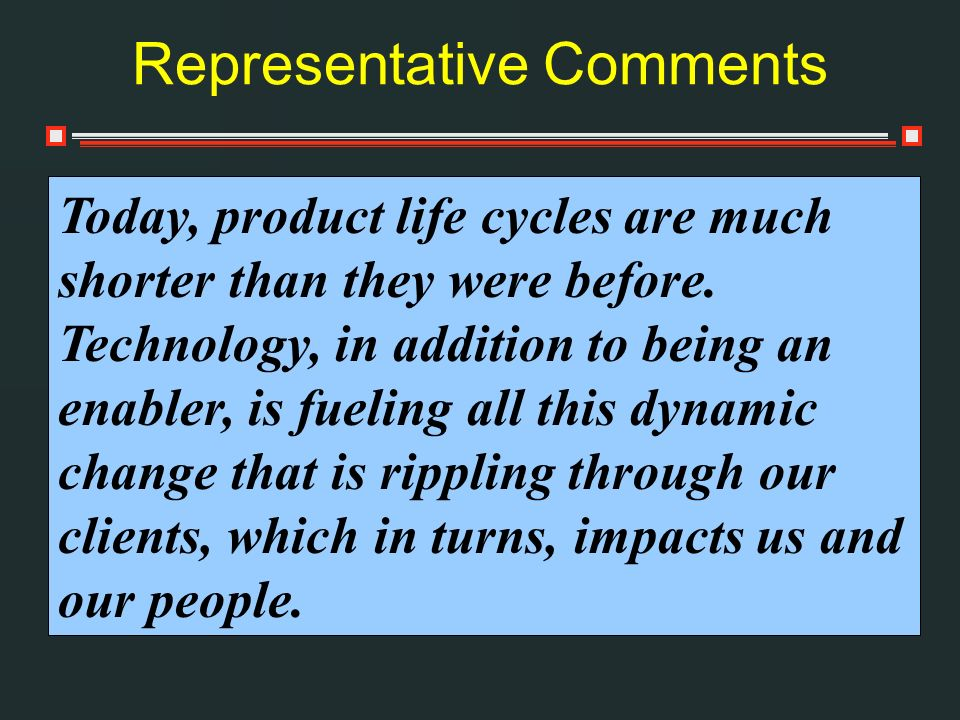 Representative Comments