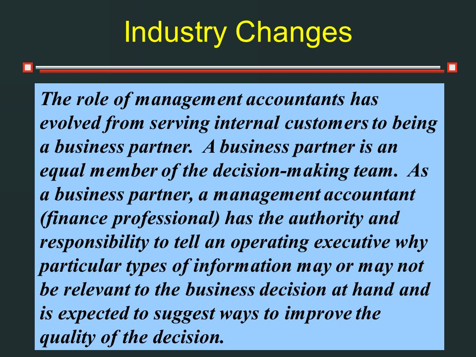 Industry Changes