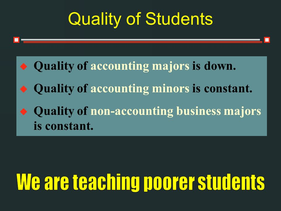 We are teaching poorer students