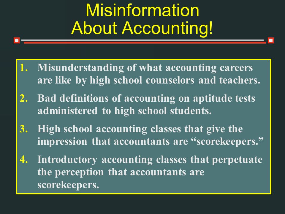 Misinformation About Accounting!