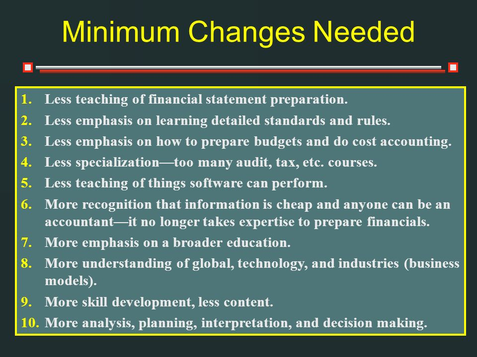 Minimum Changes Needed