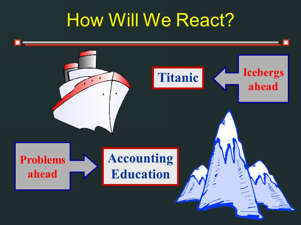 How Will We React Titanic Accounting Education Icebergs ahead