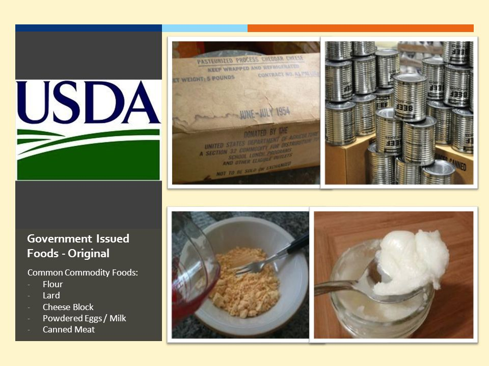 Government Issued Foods - Original