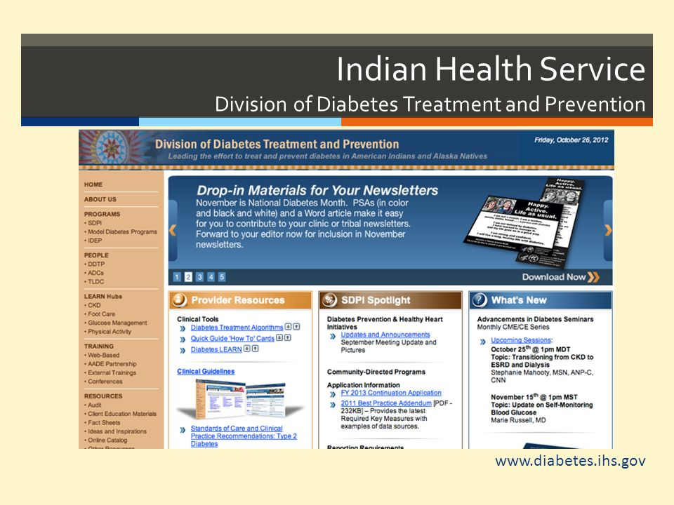 Indian Health Service Division of Diabetes Treatment and Prevention