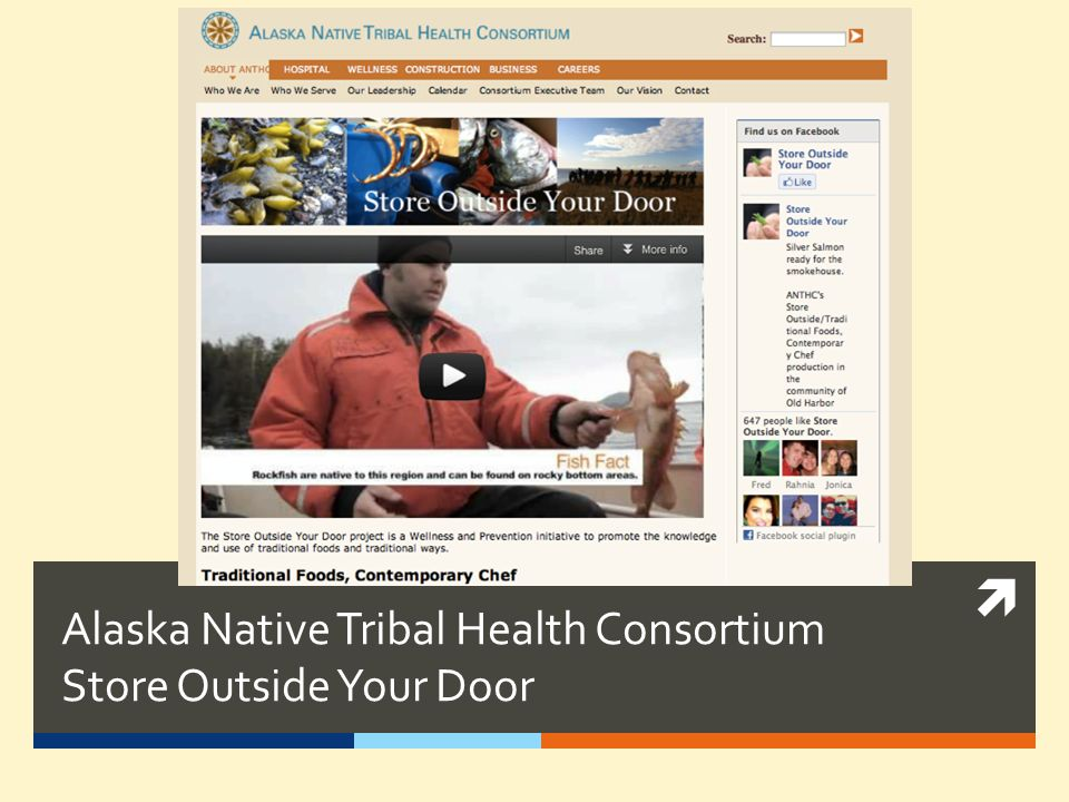 Alaska Native Tribal Health Consortium Store Outside Your Door