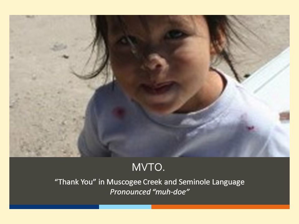 Thank You in Muscogee Creek and Seminole Language