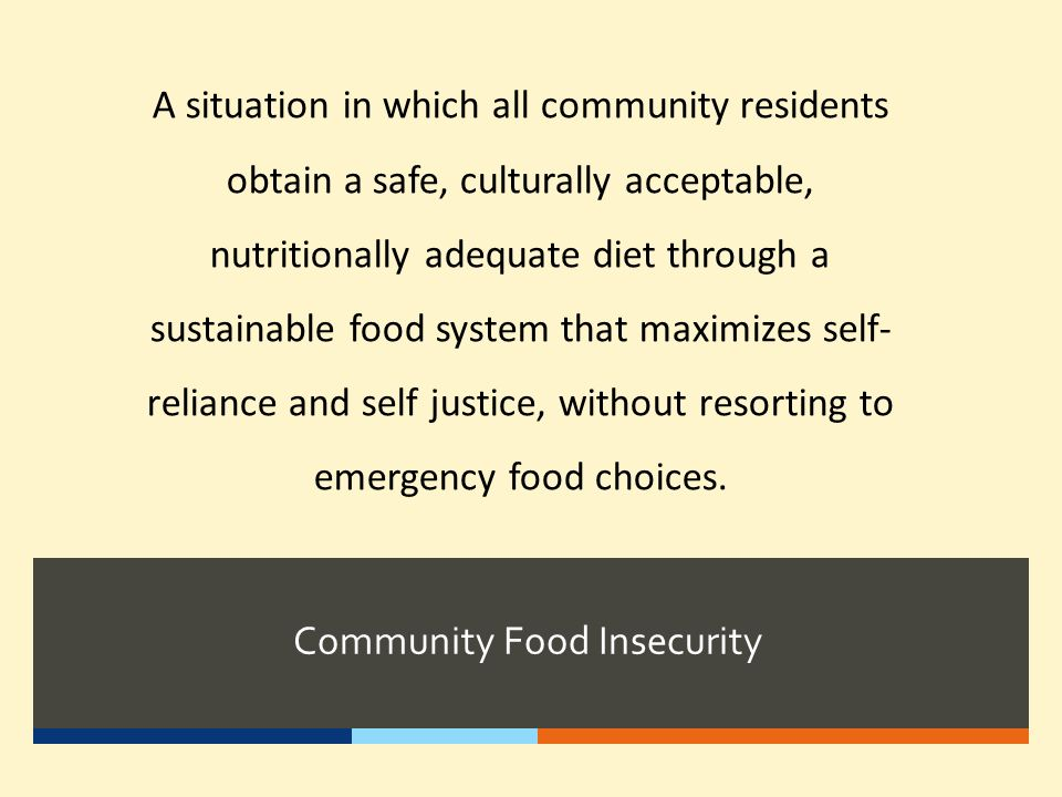 Community Food Insecurity