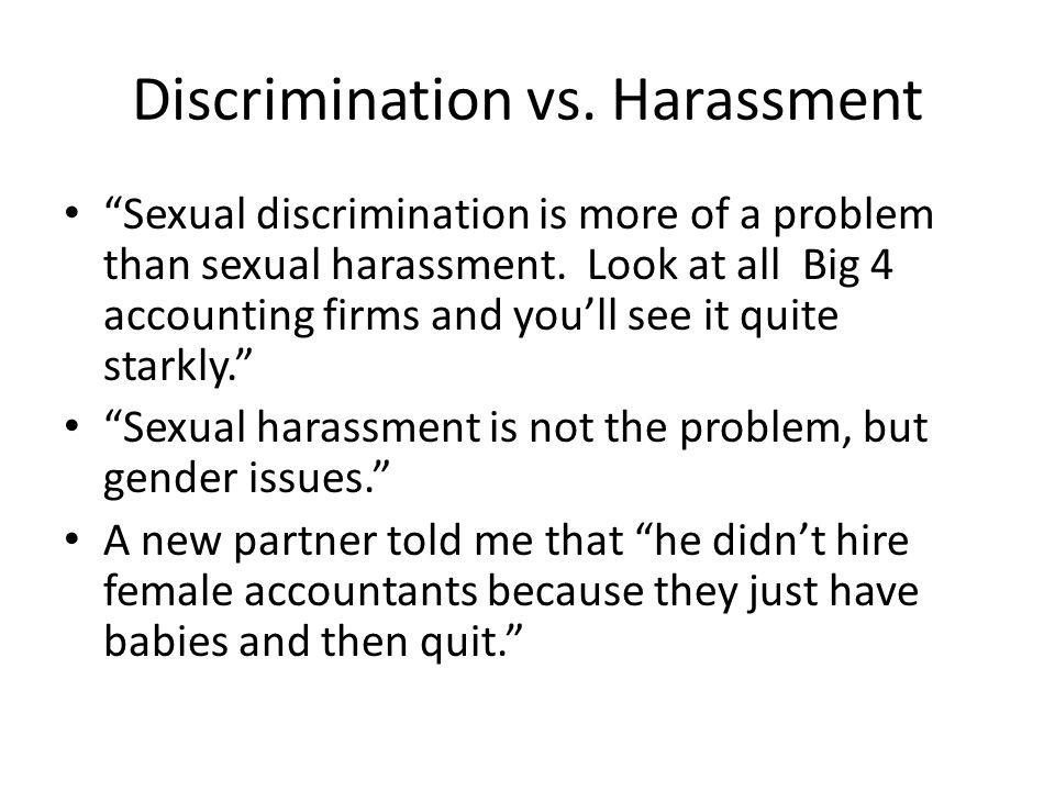 Discrimination vs. Harassment