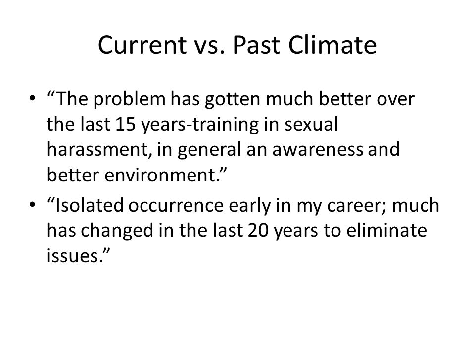 Current vs. Past Climate