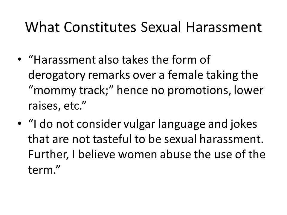 What Constitutes Sexual Harassment