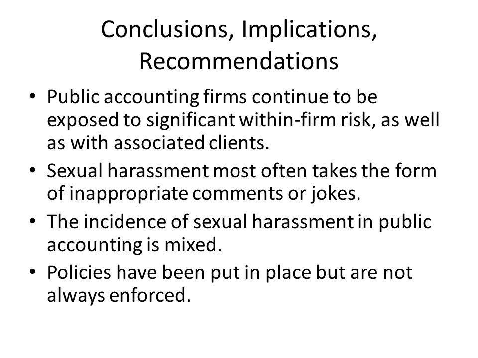 Conclusions, Implications, Recommendations