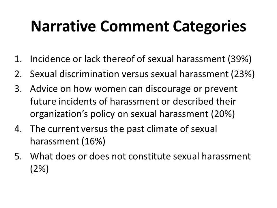 Narrative Comment Categories