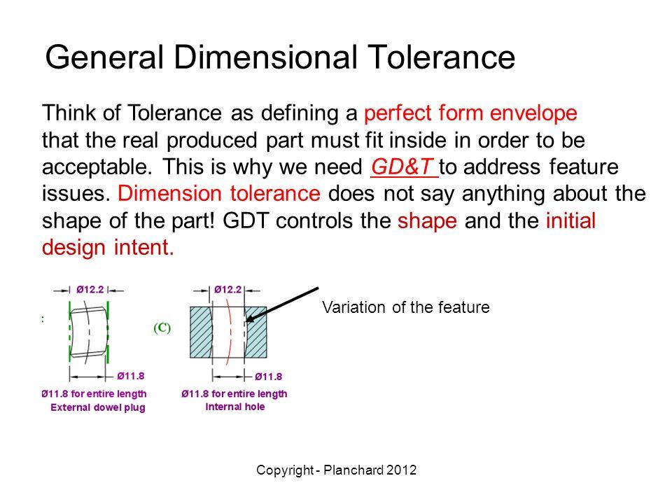 General Dimensional Tolerance