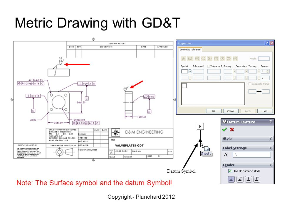 Metric Drawing with GD&T
