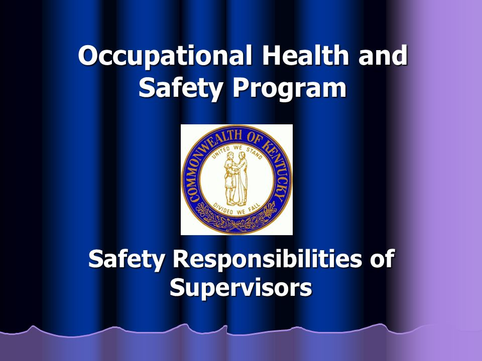 occupational health and safety programs Overview this certificate program prepares students for employment as technicians in the field of occupational health and safety the board of canadian registered safety professionals (bcrsp) accepts this credential as one of the education requirements required for eligibility for crst certification.