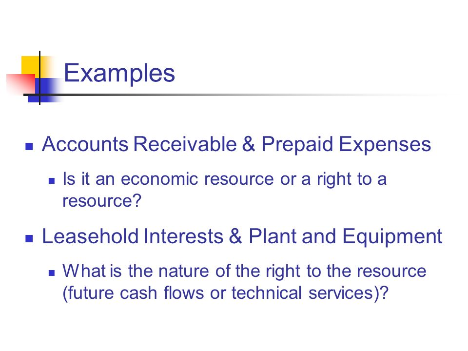 Examples Accounts Receivable & Prepaid Expenses