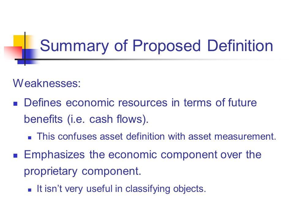 Summary of Proposed Definition